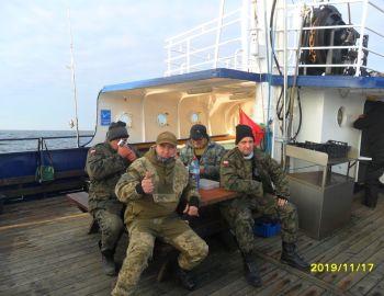 17-11-2019 r Darłowo.  Połów dorsza na Bałtyku
